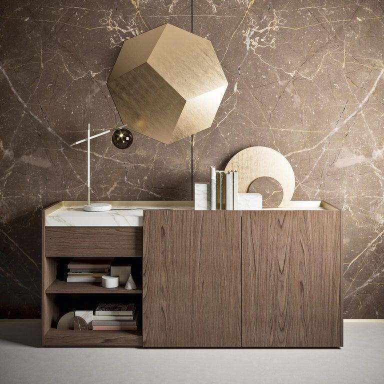 Italian Block 2.0 Calacatta Marble Sideboard For Sale
