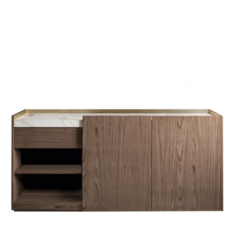 Hand-Crafted Block 2.0 Calacatta Marble Sideboard For Sale