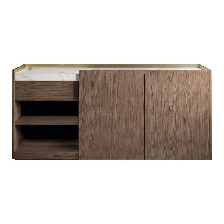 Block 2.0 Calacatta Marble Sideboard For Sale