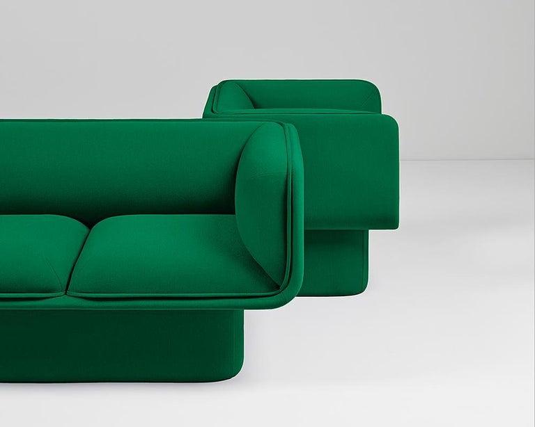 Fabric Block Armchair, Studio Mut For Sale