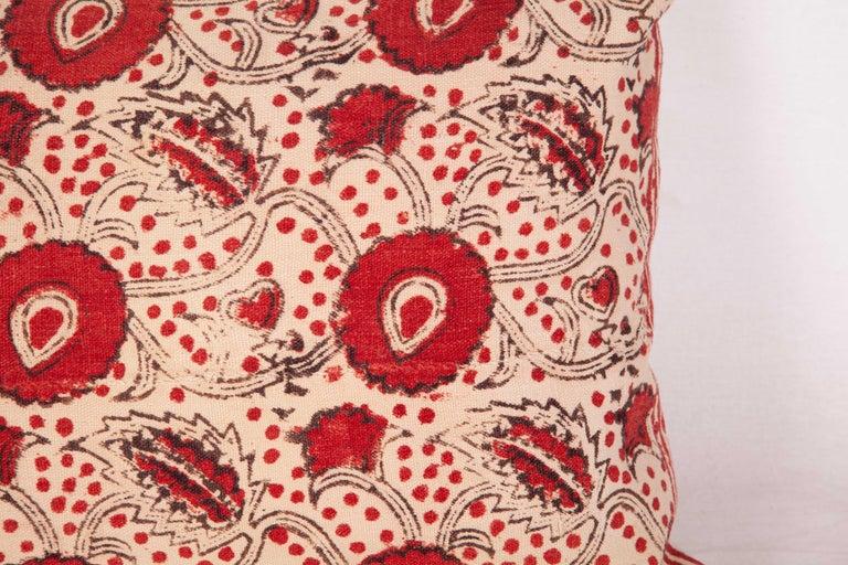 Tribal Block Print Lumbar Pillow Case made from an Uzbek Print, Early 20th Century For Sale