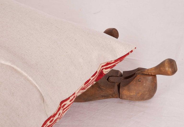 Cotton Block Print Lumbar Pillow Case made from an Uzbek Print, Early 20th Century For Sale