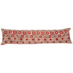 Block Print Lumbar Pillow Case Made from an Uzbek Print, Early 20th Century