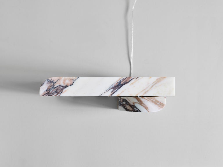 Block Sconce in Calacatta Viola Marble by Henry Wilson In New Condition For Sale In Collonge Bellerive, Geneve, CH