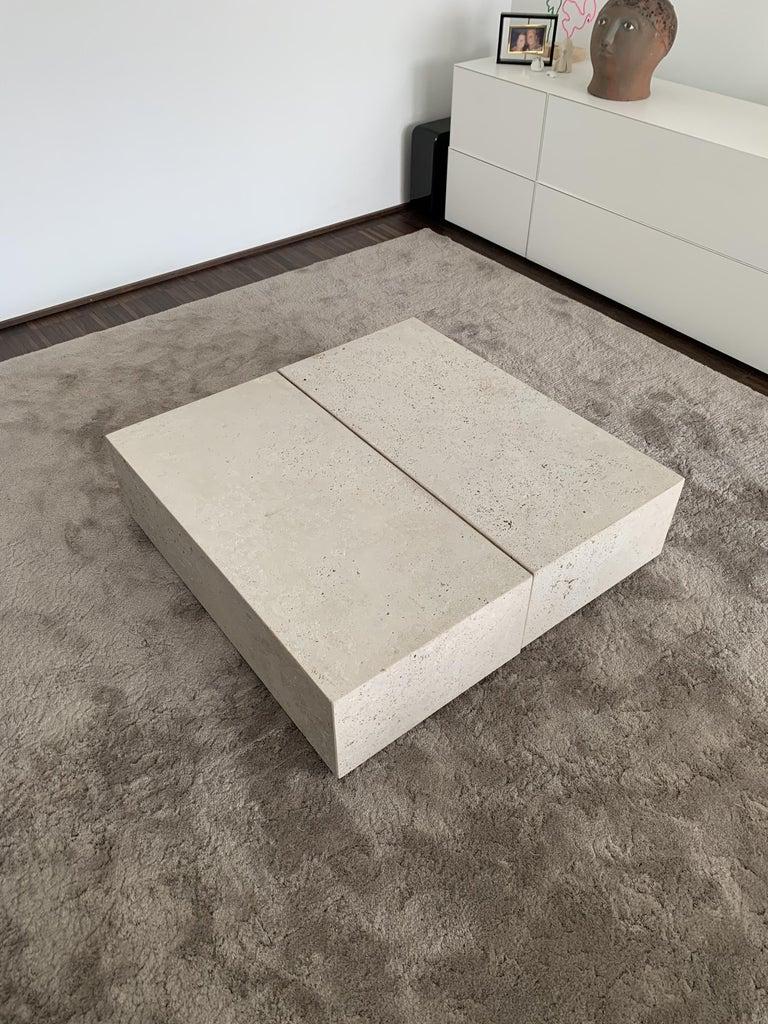 Modern Block Side Table For Sale