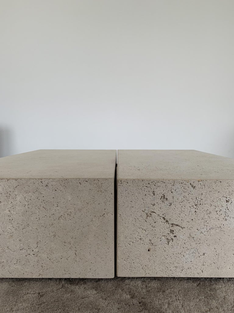 Belgian Block Side Table For Sale
