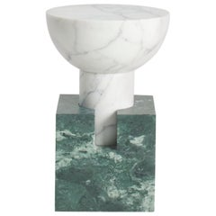 Block Side Table in Marble by Anna Karlin, Made in Italy