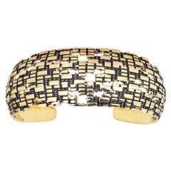 Blockchain 18 Karat Gold Cuff