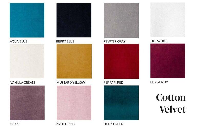 Blocks Modular Sofa Offered in Taupe Cotton Velvet For Sale 2