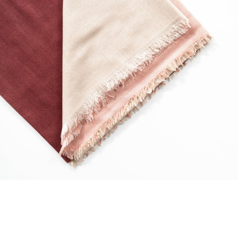 Custom design by Studio variously, BLOK ROSEWOOD is one of a kind large square shaped Scarf / Wrap / Shawl made by master artisans in Nepal.  A sustainable design brand based out of Michigan, Studio Variously exclusively collaborates with artisan