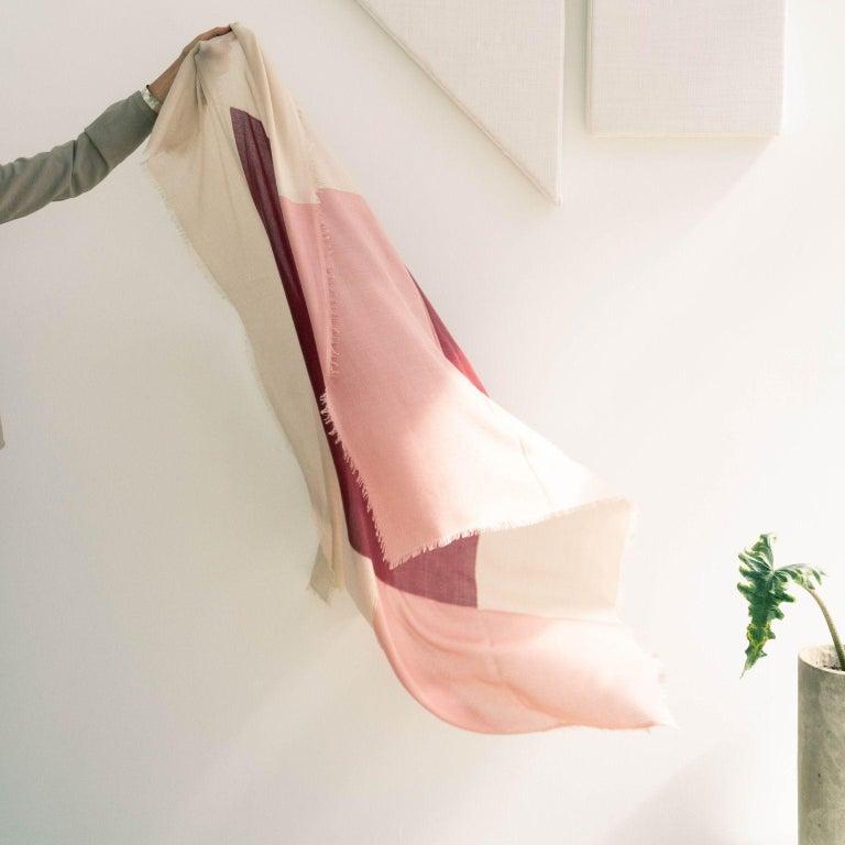 Modern BLOK ROSEWOOD  Scarf / Wrap / Shawl  For Sale