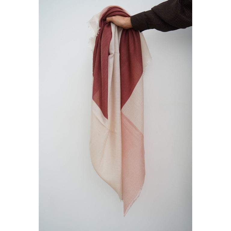 Indian BLOK ROSEWOOD  Scarf / Wrap / Shawl  For Sale
