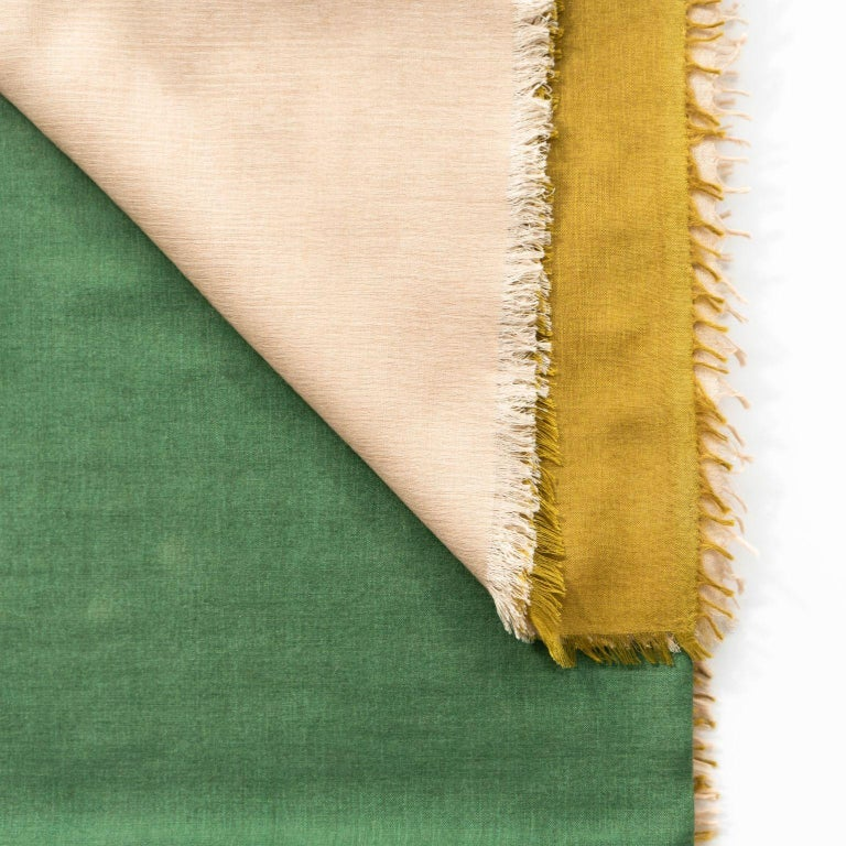 Indian BLOK TOPAZ  Cashmere Scarf / Wrap  For Sale