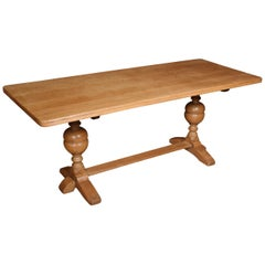 Blond Oak Refectory Table