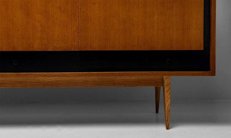 Blonde Ash Enfilade by Charles Ramos, France circa 1950 For Sale 4