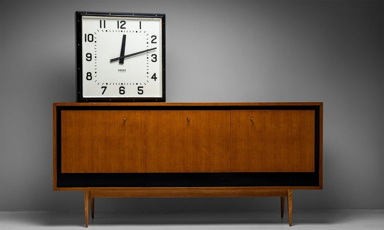 Mid-Century Modern Blonde Ash Enfilade by Charles Ramos, France circa 1950 For Sale