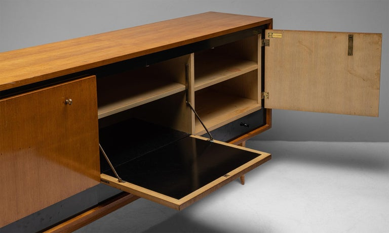Blonde Ash Enfilade by Charles Ramos, France circa 1950 For Sale 1