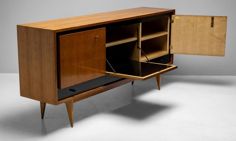 Blonde Ash Enfilade by Charles Ramos, France circa 1950 For Sale 2