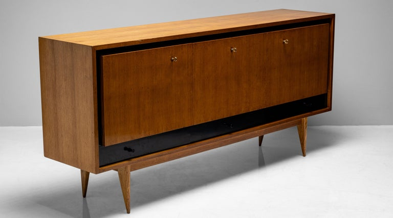 Blonde Ash Enfilade by Charles Ramos, France circa 1950 For Sale 3