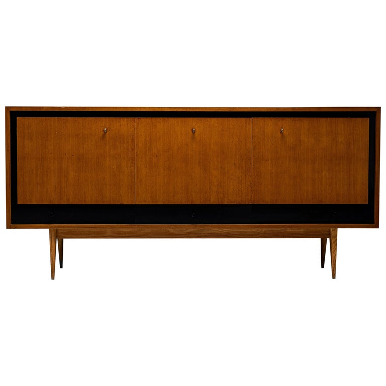 Blonde Ash Enfilade by Charles Ramos, France circa 1950 For Sale