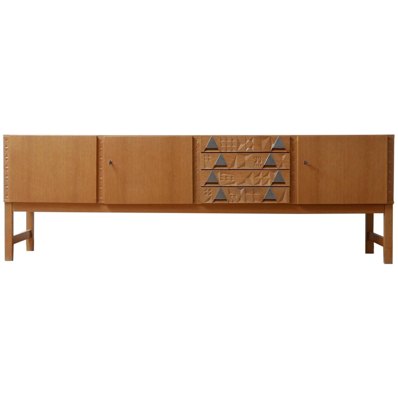 Blonde French Midcentury Credenza/Sideboard