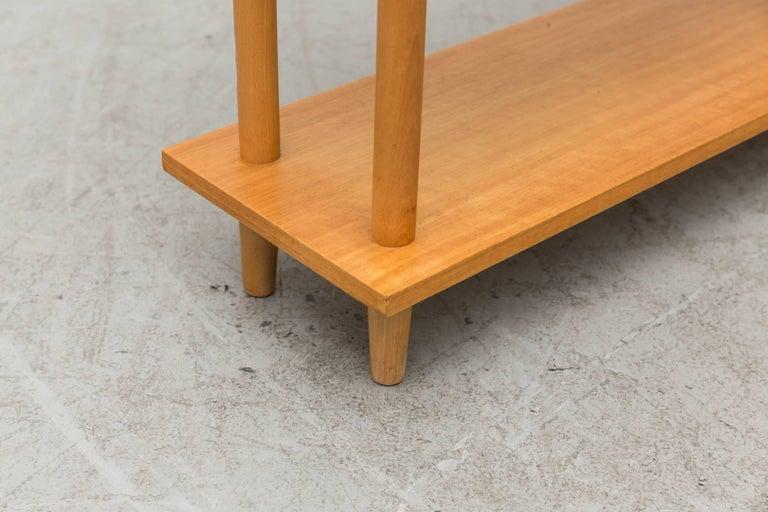 Wood Blonde Modernist Standing Bookshelf For Sale