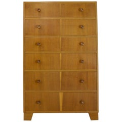 Blonde Teak Tallboy Chest of Drawers from Axelrod, 1960s