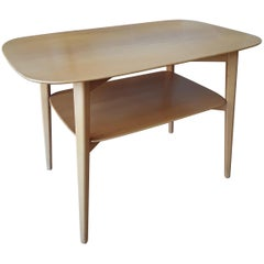 Blonde Wood Side Table by Elias Svedberg for Nordiska Kompaniet Distr. by Knoll