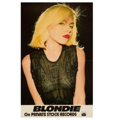 Blondie Original Vintage Private Stock Records Promo Poster, American, 1976