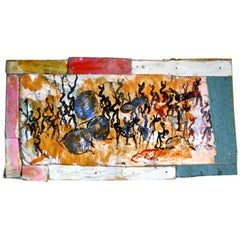Blood in the Streets, Purvis Young Mixed-Media Painting, 1980s