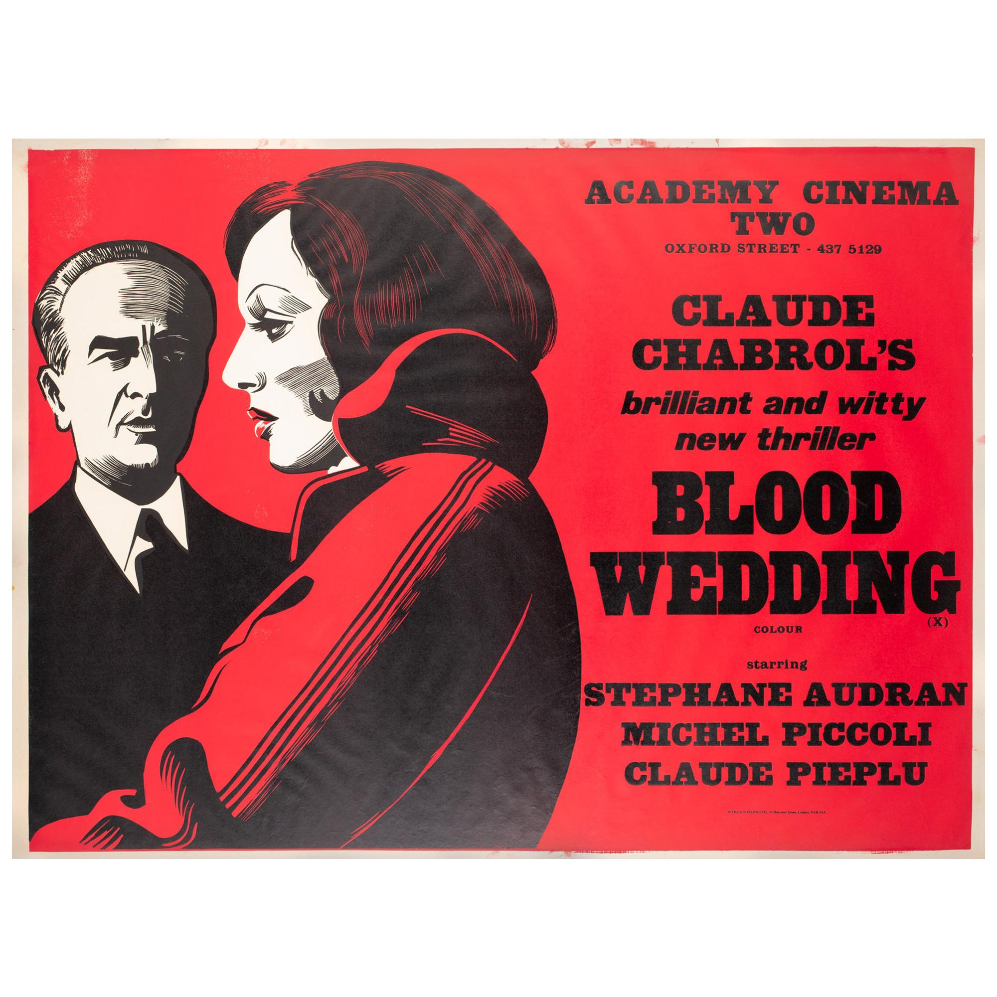 Blood Wedding 1973 Academy Cinema UK Quad Film Poster, Strausfeld