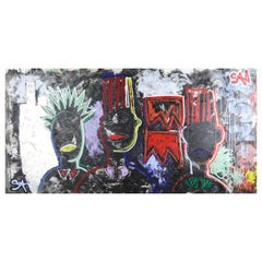 """""""Bloods Equality""""  NYC Neo-Expressionist Painting"""
