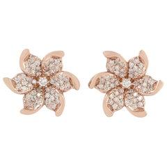 Bloom 18 Karat Gold Diamond Stud Earrings