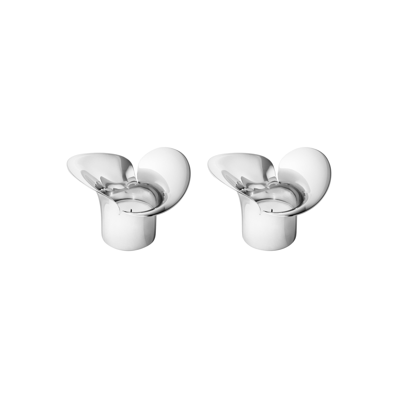 Bloom Botanica Stainless Steel Tealight Candleholder Set