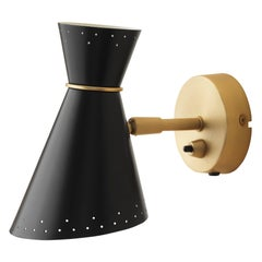 Bloom Wall Lamp in Black Noir by Svend Aage Holm-Sørensen for Warm Nordic