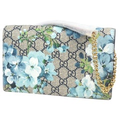 Blooms  chain Wallet  Womens  shoulder bag Leather