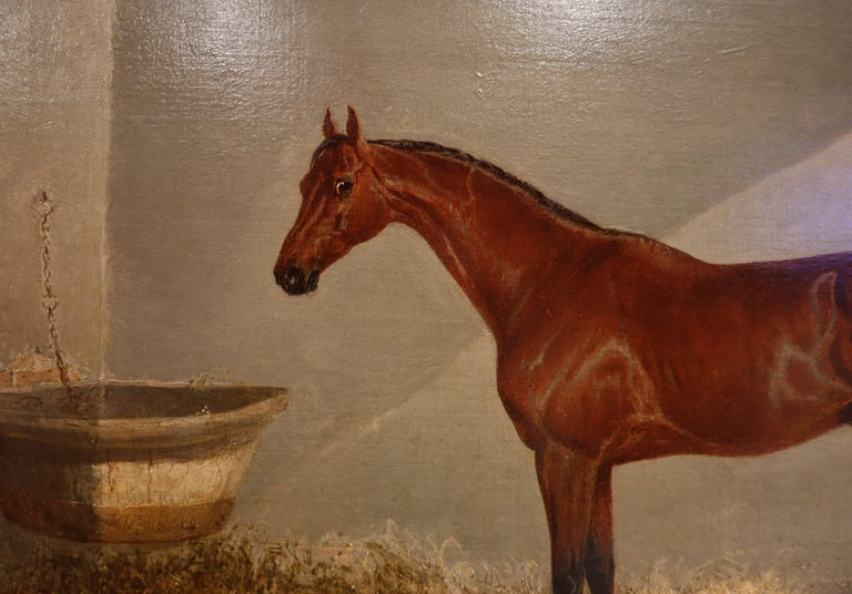 English Bloomsbury, Winner of the Derby Oil on Canvas For Sale