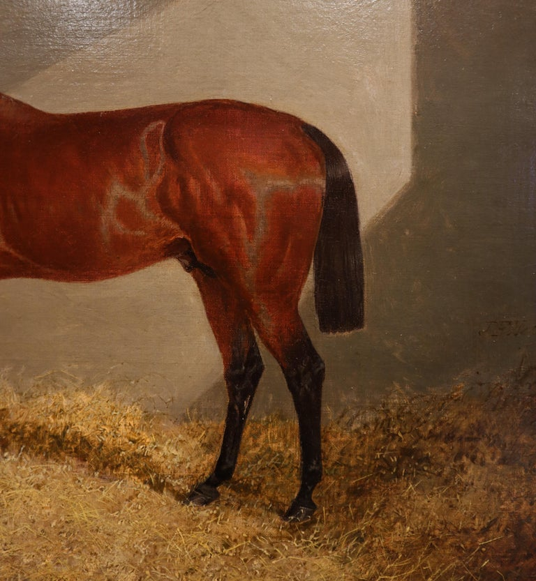 Bloomsbury, Winner of the Derby Oil on Canvas In Good Condition For Sale In Lantau, HK