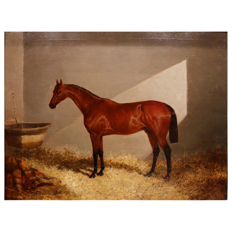 Bloomsbury, Winner of the Derby Oil on Canvas For Sale