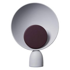 Blooper LED Table Lamp in Ash Grey with Fig Purple Dimmer Disc by Mette Schelde