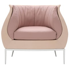 Blossom Armchair in Pink by Luca Scacchetti