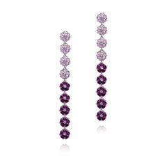Blossom Gentile Ombre Chandelier Earrings - Lavender and Amethyst Gemstones