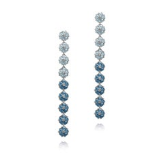 Blossom Gentile Ombre Chandelier Earrings - Sky and London Blue Gemstones