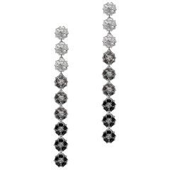 Blossom Gentile Ombre Chandelier Earrings, White, Gray and Black Gemstones