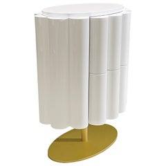 """Blossom"" Modern Bedside Table in Glossy White from Egli Design"