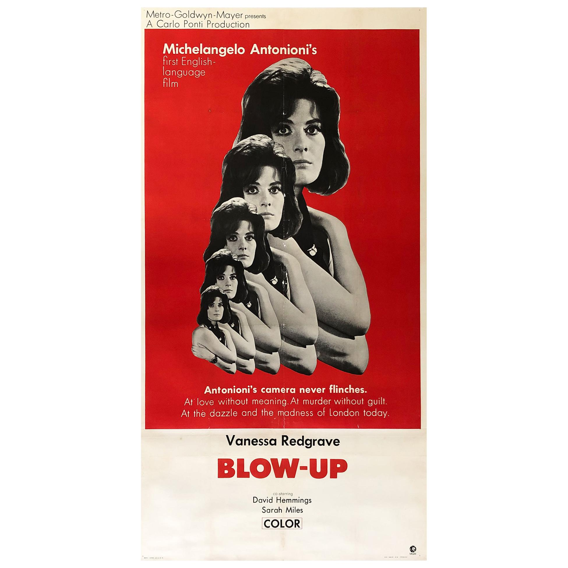 Blow-up 1967 US International 3 Sheet Film Movie Poster