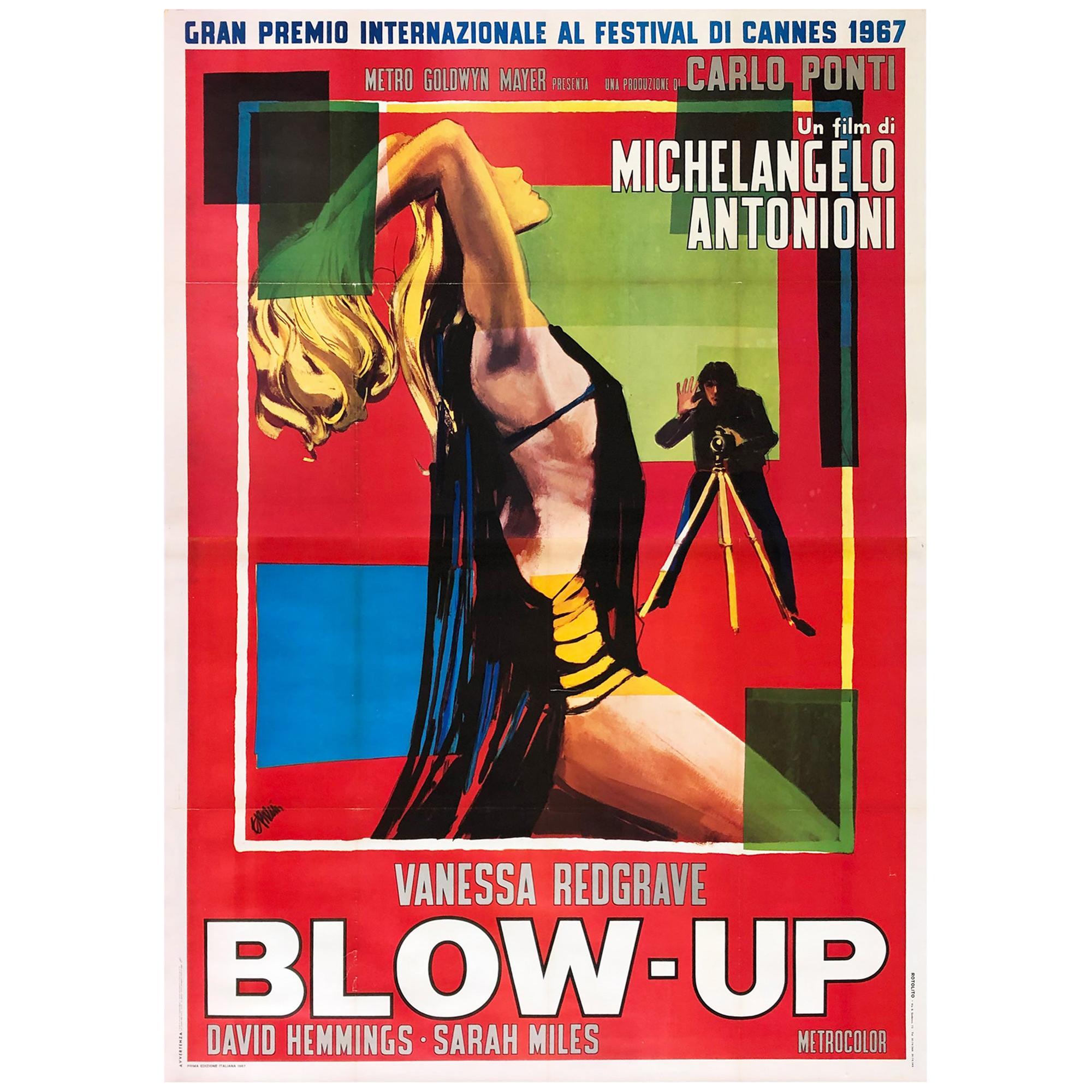 Blow-Up Original 1967 Italian Giant 4 Foglio Film Movie Poster, Brini