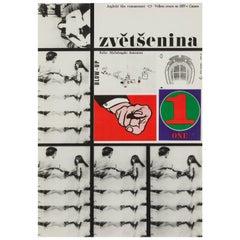 Blow-Up Original Czech Film Poster, Milan Grygar, 1963