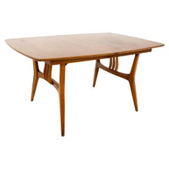 Blowing Rock Mid Century 10 Person Walnut Surfboard Dining Table