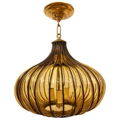 Blown Glass Midcentury Lantern